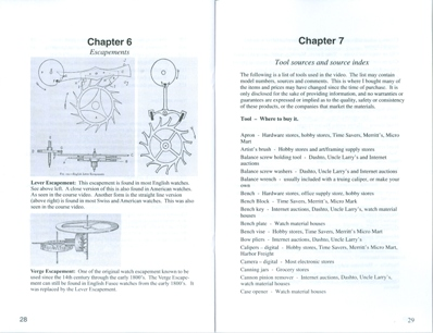 Watch Repair Course Manual inside 2