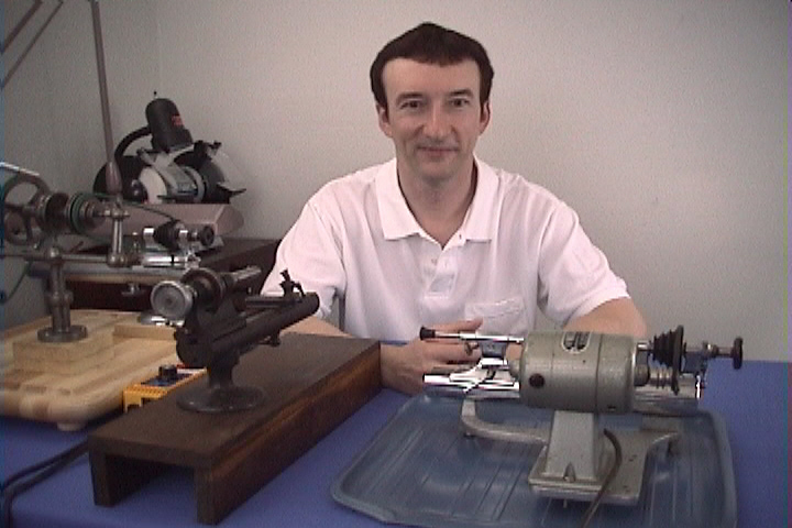 John Tope with Clock maker Lathe and Watch maker Lathe
