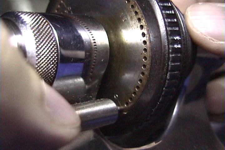 Using a lathe index plate.