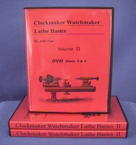 Clockmaker Watchmaker Lathe Basics Volume II