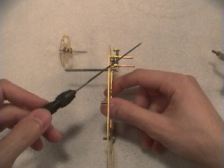 Learn Clock Repair - broaching the plate