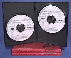 Clockmaker Watchmaker Lathe Basics DVD Volume I open