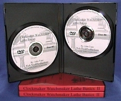 Clockmaker Watchmaker Lathe Basics DVD Volume II open